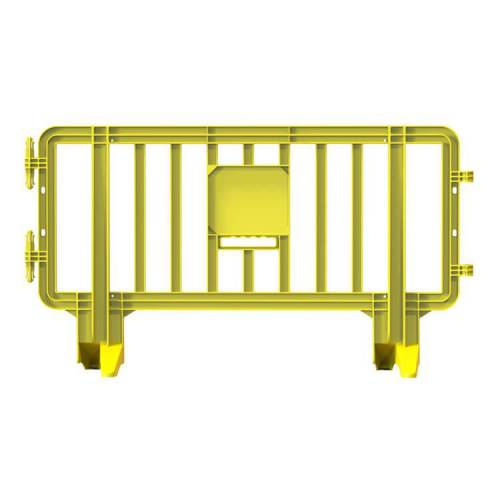 Link Plastic Portable Barricade  - 6.6 ft x 3.6ft – Yellow