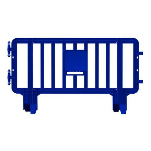 Valla de Plástico Peatonal Link - 2m x 1,1m – Azul