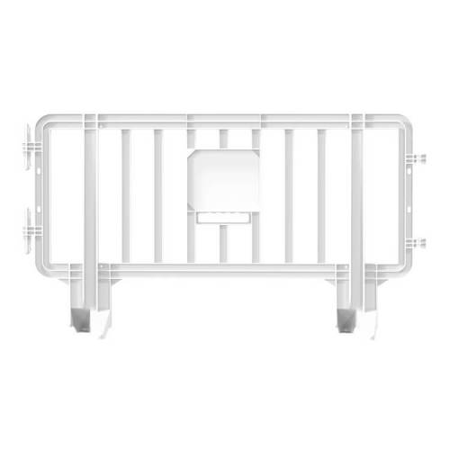 Link Plastic Portable Barricade  - 6.6 ft x 3.6ft – White