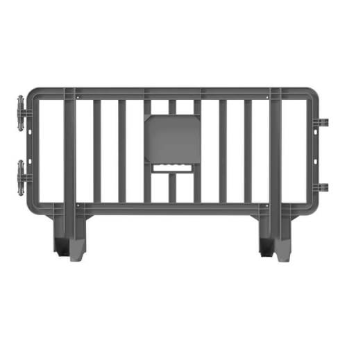 Link Plastic Portable Barricade  - 6.6 ft x 3.6ft – Silver