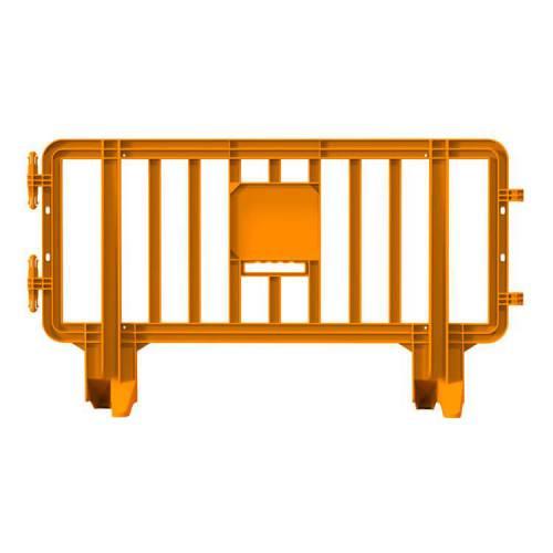Valla de Plástico Peatonal Link - 2m x 1,1m – Naranja