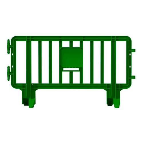 Link Plastic Portable Barricade  - 6.6 ft x 3.6ft – Green