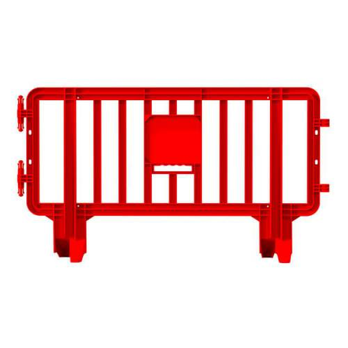 Link Plastic Portable Barricade - 6.6 ft x 3.6ft - Red